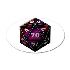 D20 color Wall Sticker