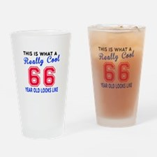 Really Cool 66 Birthday Designs Drinking Glass