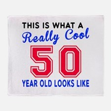 Really Cool 50 Birthday Designs Throw Blanket