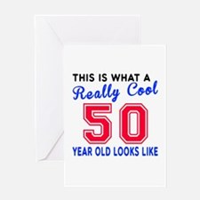 Really Cool 50 Birthday Designs Greeting Card
