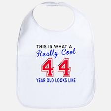 Really Cool 44 Birthday Designs Bib