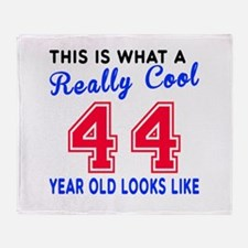 Really Cool 44 Birthday Designs Throw Blanket