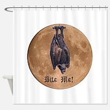 Bite Me Bat Shower Curtain