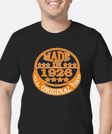 Made in 1926, All orig Men's Fitted T-Shirt (dark)