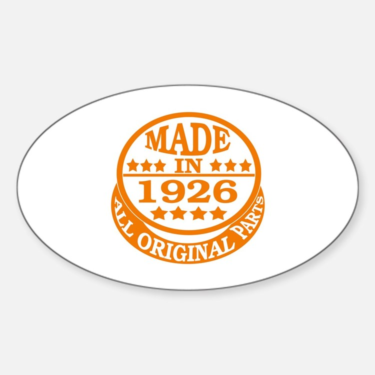 Made in 1926, All original parts Decal