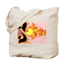 """Golden Dragon"" Fractal Art Tote Bag"