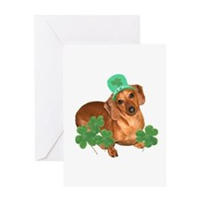 St Patty's Day Dachshund Greeting Card