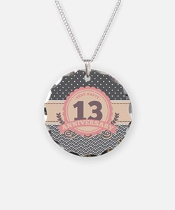 13th Anniversary Gift Chevro Necklace