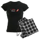 I Love Shoes Women's Dark Pajamas