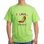 I Love Shoes Green T-Shirt