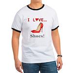 I Love Shoes Ringer T