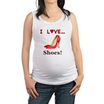 I Love Shoes Maternity Tank Top