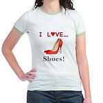 I Love Shoes Jr. Ringer T-Shirt