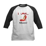 I Love Shoes Kids Baseball Jersey