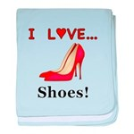 I Love Shoes baby blanket