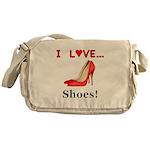 I Love Shoes Messenger Bag