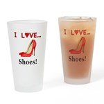 I Love Shoes Drinking Glass