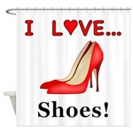 I Love Shoes Shower Curtain