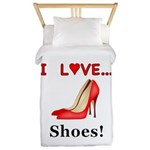 I Love Shoes Twin Duvet