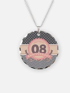 8th Anniversary Gift Chevron Necklace