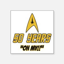 """50 Years Oh My Square Sticker 3"""" x 3"""""""