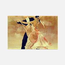 Cute Couple dancing Rectangle Magnet