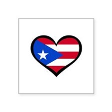 "Unique Puerto rico flag Square Sticker 3"" x 3"""