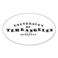 U. of Tehrangeles Oval Decal