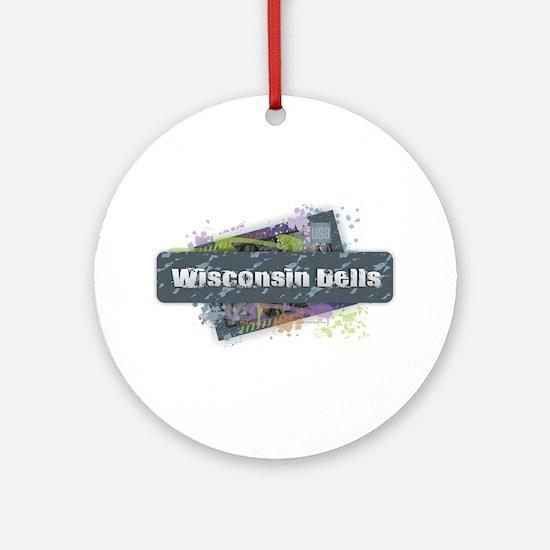 Wisconsin Dells Design Round Ornament