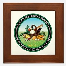Living Organic North Dakota Framed Tile