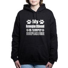 Norwegian Elkhound is si Women's Hooded Sweatshirt