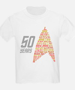 50 Years Captain Names T-Shirt