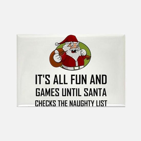 Santa Checks Naughty List Magnets
