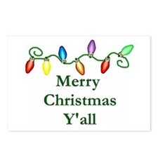 Merry Christmas Y'all Postcards (Package of 8)