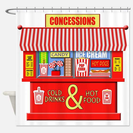 Movie Theater Concessions Stand Shower Curtain
