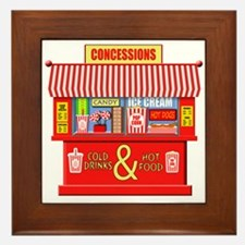 Movie Theater Concessions Stand Framed Tile