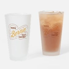 Vote Bernie, Tax Trump Drinking Glass
