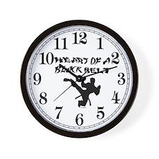 Heart of a Black Belt Wall Clock