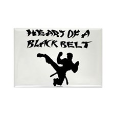 Heart of a Black Belt Rectangle Magnet
