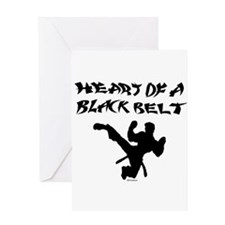 Heart of a Black Belt Greeting Card