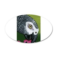 African Grey Parrot Decal Wall Sticker