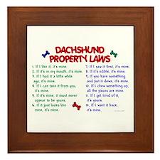 Dachshund Property Laws 2 Framed Tile