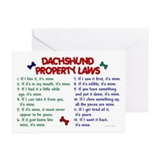 Dachshund Property Laws 2 Greeting Cards (Pk of 10