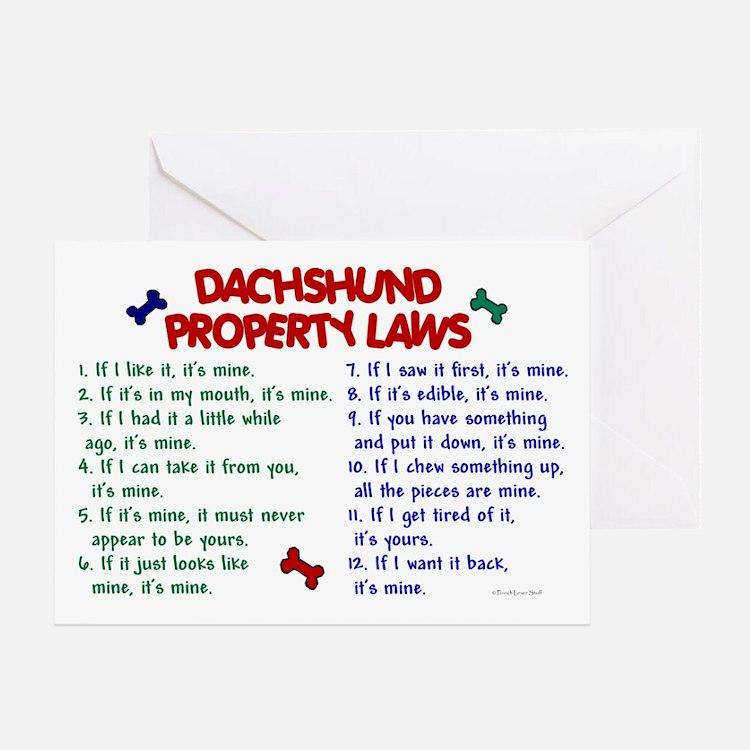 Dachshund Property Laws 2 Greeting Card