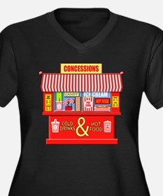 Movie Theater Concessions Stand Plus Size T-Shirt