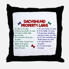Dachshund Property Laws 2 Throw Pillow