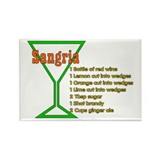 Sangria Rectangle Magnet