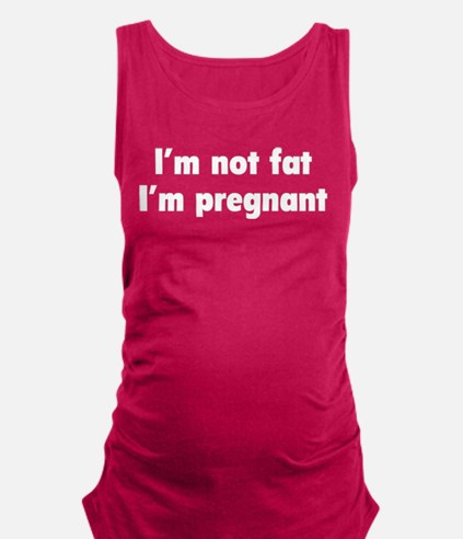 Unique I think i might be pregnant Maternity Tank Top