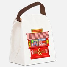 Movie Theater Concessions Stand Canvas Lunch Bag