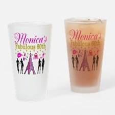 STYLISH 60TH Drinking Glass